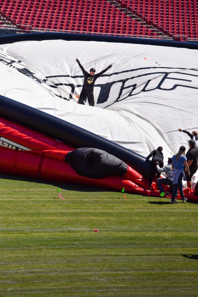 He lands safely after breaking his own Guinness World Record