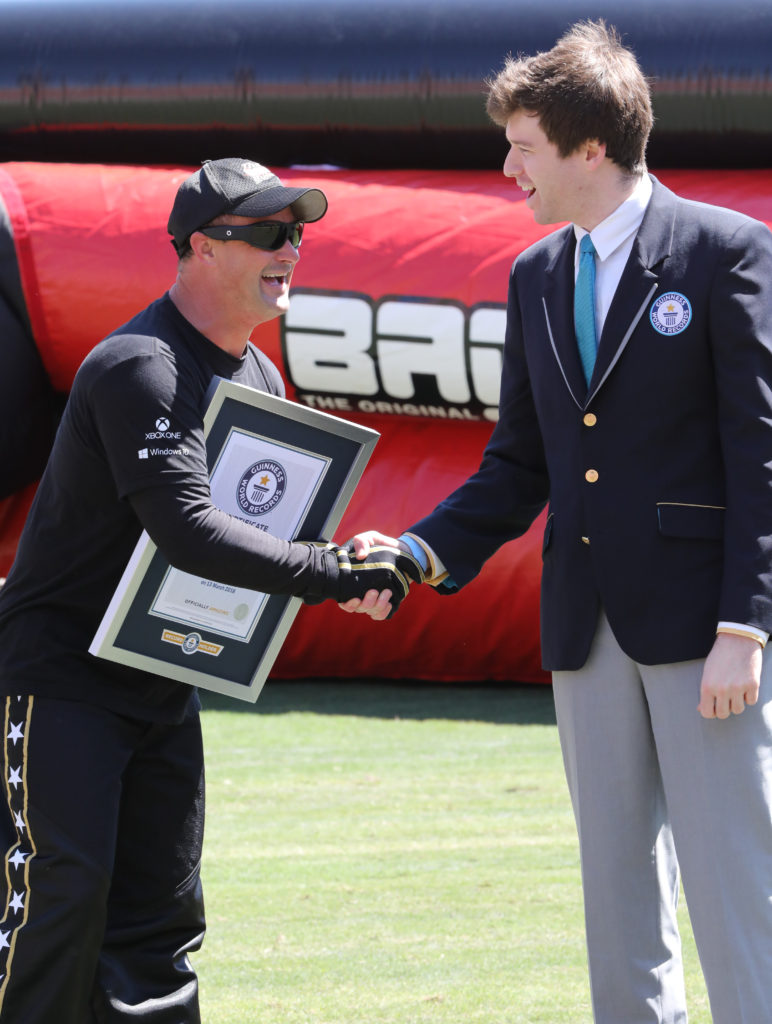 David Smith Accepting his World Record from Guinness